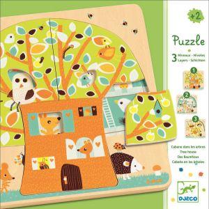 Djeco Puzzle 3 niveaux : Cabane dans les arbres