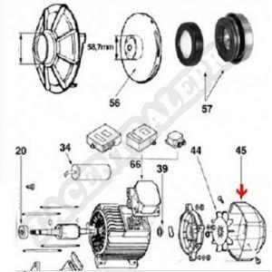 Procopi 590041 - Capot de ventilateur de pompe Flipper NS150 et 2NS150 et 200