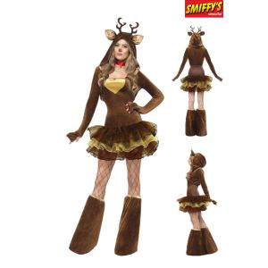 Smiffy's Déguisement renne sexy femme Noël (taille S ou M)