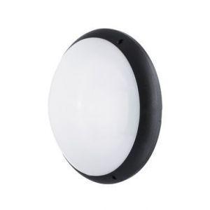 Ebénoid Hublot fluo 2X18W Ø 350mm polycarbonate noir avec lampe 4000K 1420lm G24q-2 et ballast elec CL2 IK10 IP65 SQUAD 879441