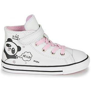 Converse 76975 Sneaker Chuck Taylor Panda Ecopelle Bianco/Rosa 26