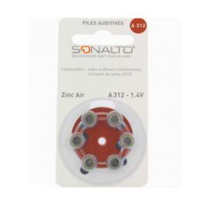 Image de Sonalto Octave - Piles Zinc Air A312-1,4V (Plaquette de 6)