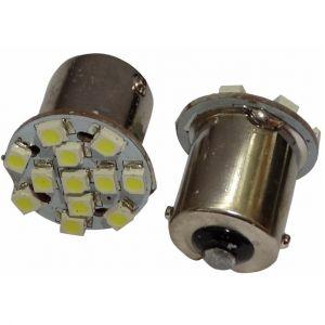 Aerzetix : 2x ampoule 24V P21W R10W R5W 12LED SMD blanc pour camion semi-remorque porte de garage portail