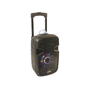 """Lotronic Enceinte animée portable 8""""/20cm - 300W avec USB, Bluetooth, FM et Micro"""