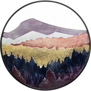 Atmosphera Décoration Murale Métal Paysage Diamètre 60