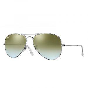 Ray-Ban Aviator flash lenses gradient Sunglasses Verres  Vert, Monture   Argent - a16b3bc638