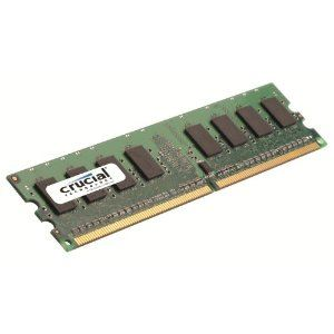 Crucial CT25664AA800 - Barrette mémoire 2 Go DDR2 800 MHz 240 broches