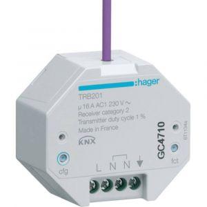 Hager 1 Sortie 16A à encastrer KNX radio QL (TRB201)