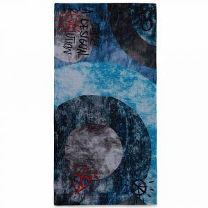 Desigual Foulard Galactic Denim à imprimé contrastant Bleu