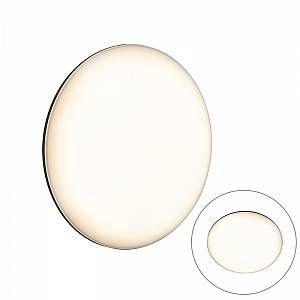 Qazqa Moderne ronde buitenwandlamp donkergrijs - Calvus