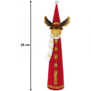 Eglo Renne de Noël avec chapeau en dentelle pour la décoration d'hiver