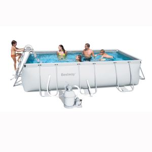Bestway 56255 - Piscine tubulaire rectangulaire 404 x 201 x 100 cm