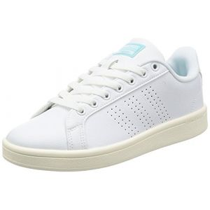 Adidas Cloudfoam Advantage, Sneakers Basses Femme, Blanc (Ftwwht/Ftwwht/Claqua), 38 EU