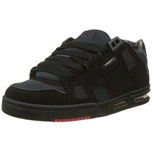Globe Sabre, Chaussures de Skateboard Hommes, Noir (Black/Night/Red 10982), 39 EU