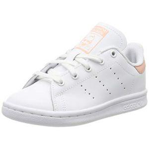 Adidas Stan Smith Blanche Et Rosé Enfant 34 Baskets