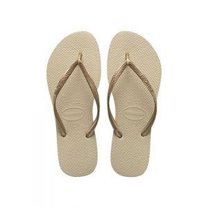 Havaianas Slim, Tongs Femme, Or (Sand Grey/Light Or En 2719), 31/32 EU (29/30 BR)