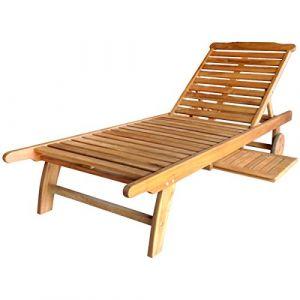 Bentley Bain de soleil/transat en bois balau - pour patio et jardin