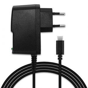 Subtel Chargeur de Qualité - 1,2m (2A / 2000mA) compatible avec Nintendo Switch / Nintendo Switch Pro Controller (5V / USB C)