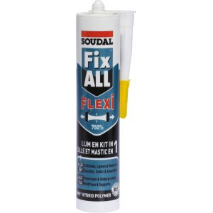Soudal Fix All 310 ml - Cartouche colle universel blanc