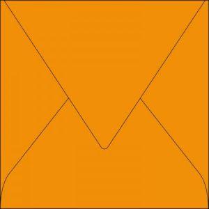 Pollen 5383C - Enveloppe 165x165, 120 g/m², coloris capucine, en paquet cellophané de 20