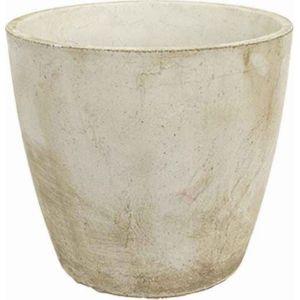 Deco granit Pot de fleurs rond en pierre reconstituée 36 x 33 cm
