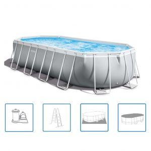 Intex Ensemble de piscine ovale 610x305x122 cm 26798GN Prism Frame