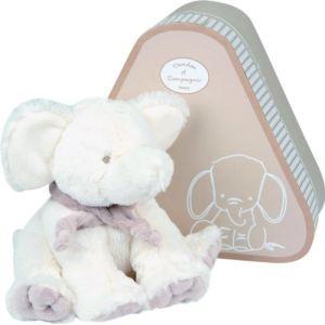 Doudou et Compagnie Peluche Éléphant avec doudou (moyen modèle)