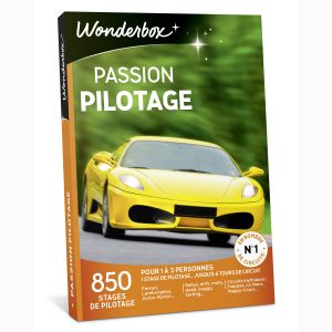 Wonderbox Passion Pilotage - Coffret cadeau 850 stages de pilotage