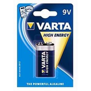 Varta Pile Alcaline High Energy 9V 6LR61 (à l'unité)