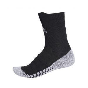 Adidas Alphaskin Traxion Crew Lightwight Cushioning - Chaussettes de sport taille 37-39, noir/gris