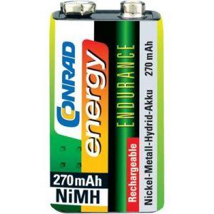 Accu bloc 9 V NiMH 8.4 V Conrad energy 9V-270 270 mAh