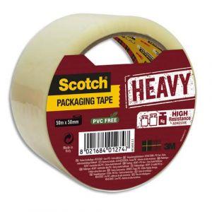 Scotch HV5050-ST - Ruban adhésif d'emballage Heavy, transparent, 50mm x 50m, ép. 56µ (BP978)