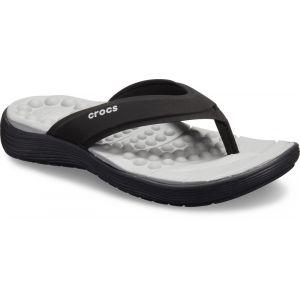 Crocs Reviva Flip Sandals Women, black/black EU 38-39 Tongs