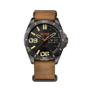 Hugo Boss 1513316 - Montre pour homme avec bracelet en cuir