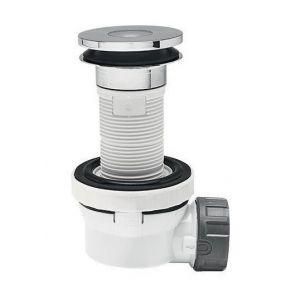 Wirquin Siphon de lavabo Xs Pure Bonde 100 D40 FR/NL - Sortie D.40 mm - A membrane silicone - Bonde orientable à 360° à l'horizontale et 4° à la verticale.