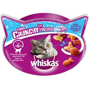 Whiskas 6x66g poissonFriandises Trio Crunchy Treats - Friandises pour Chat