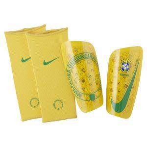 Nike Protège-tibias de football Brasil Mercurial Lite - Or - Taille XS - Unisex