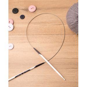 Prym Aiguilles à Tricoter circulaires Design Ergonomique/Aiguilles, métal, Multicolore, 4 mm, Longueur 80 cm