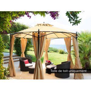 toile de toit pour la tonnelle ronde iloha with tonnelle gifi. Black Bedroom Furniture Sets. Home Design Ideas