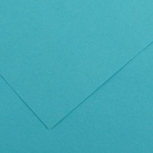 Canson 200040378 - Feuille Iris Vivaldi 50x65 240g/m², coloris bleu turquoise 25