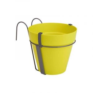 Loft URBAN Pot de fleur balconnière - 27 x 19 x 19 cm -Lime vert - Réservoir d'eau - Balustrades jusqu'à 6 cm de large - Charge maximale 5 kg - Recyclables - Résistant au gel