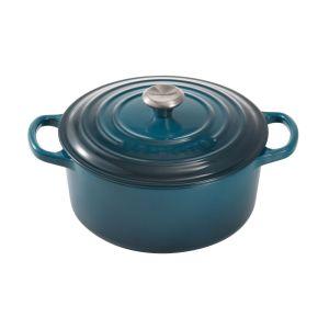 Le Creuset Cocotte en fonte émaillée ronde bleu Ø24 cm - 4,2 L Bleu