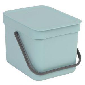 Brabantia Poubelle Waste Bin Sort & Go 6L Mint - 109645