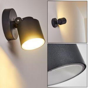 Hofstein Applique extérieure LED Apenrader en aluminium anthracite, spot orientable résitant aux intemprérie
