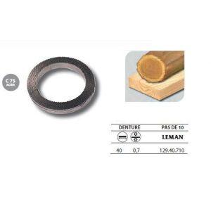 Leman 129.40.710 - 1 Rouleau de 50 mètres Lame scie à ruban en acier C75 40x0,7 pas de 10