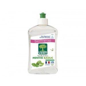 L'Arbre Vert Liquide vaisselle & mains menthe basilic - Le flacon de 500ml