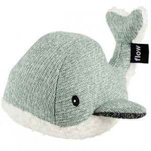 Flow Peluche bruit blanc baleine Moby vert d'eau (21 cm)