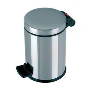 Hailo poubelle p dake trento couvercle plat en inox 4 l for Habitat poubelle cuisine