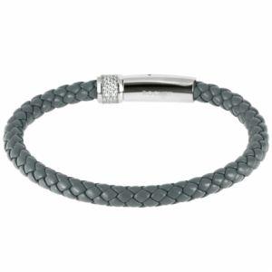 Rochet B361380 - Bracelet en acier et cuir pour homme