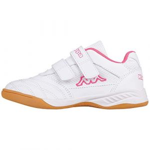Kappa Kickoff, Chaussures Multisport Indoor Fille, Blanc (White/L´Pink 1027), 32 EU